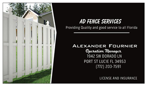 AD FENCE SERVICES logo