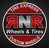 RNR TIRE EXPRESS AND CUSTOM WHEELS logo